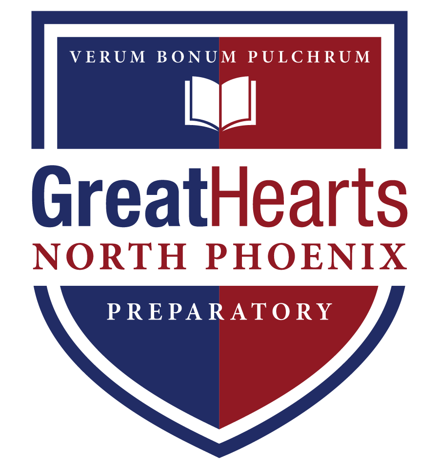 Great Hearts North Phoenix Prep, Serving Grades 7-12  School Crest